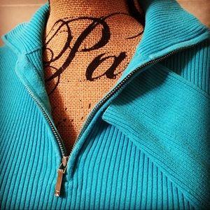 Ralph Lauren Rib Knit Mock Sweater  Size Large